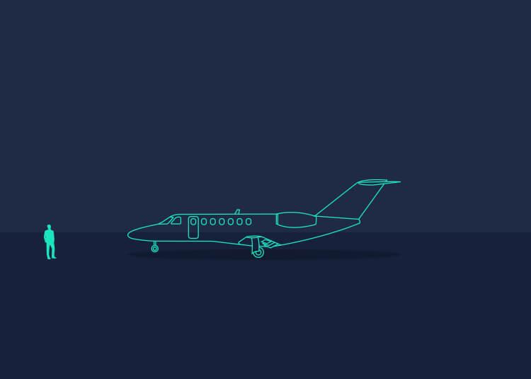 Image of Cessna Citation floorplan