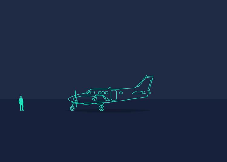 Image of King Air floorplan