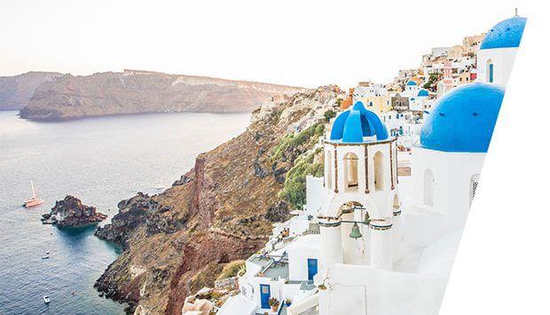 Image of Santorini, Greece.